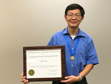 Ping Yang Receives NASA Exceptional Scientific Achievement Medal