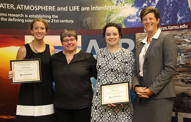 Department of Oceanography Recognizes First Two Graduates of The Masters of Ocean Science and Technology Degree