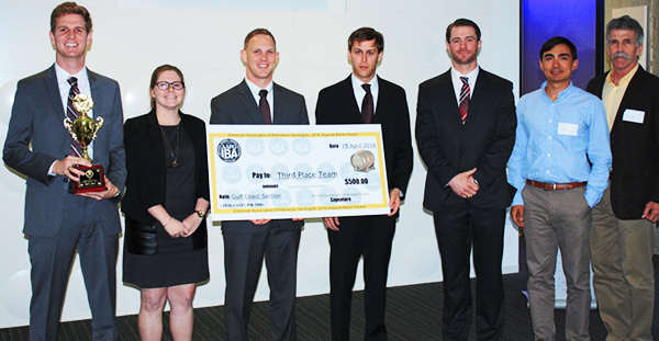 Grad students place 3rd at AAPG competition