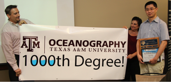 Department of Oceanography Awards 1,000th Degree