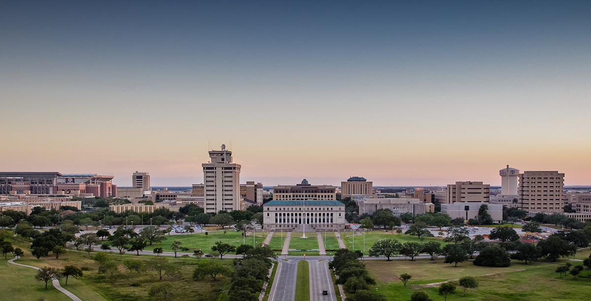 Texas A&M University campus. (Photo courtesy of Texas A&M.)