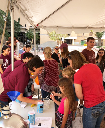 Volunteers Bring the Geosciences to Texas A&M Chemistry Open House