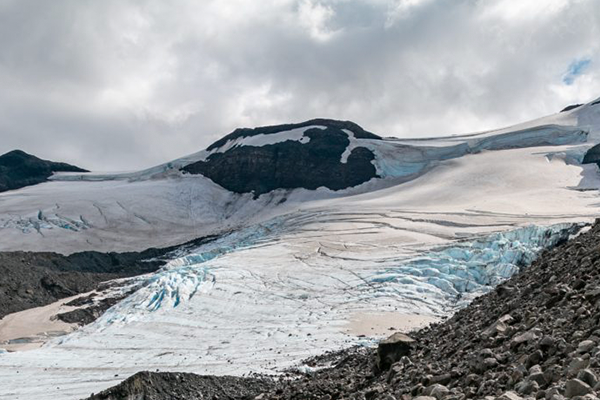 Ewing's team was located two hours north of Reykjavik in the Icelandic highlands near a trio of glaciers. (Photo by Nick Wilson, Texas A&M Marketing and Communications.)