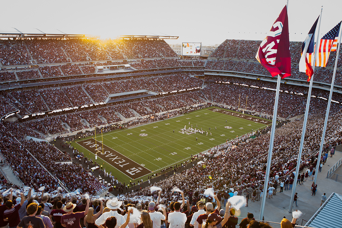 Texas A&M vs. Alabama at Kyle Field in 2017. (Photo by Texas A&M.)