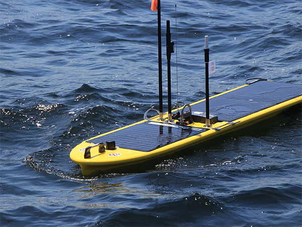 The Gulf Explorer Wave Glider SV3 in the Gulf of Mexico.