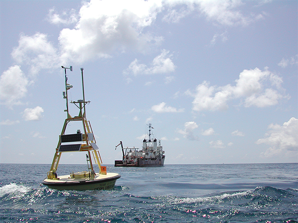 A TABS buoy in the Gulf of Mexico.