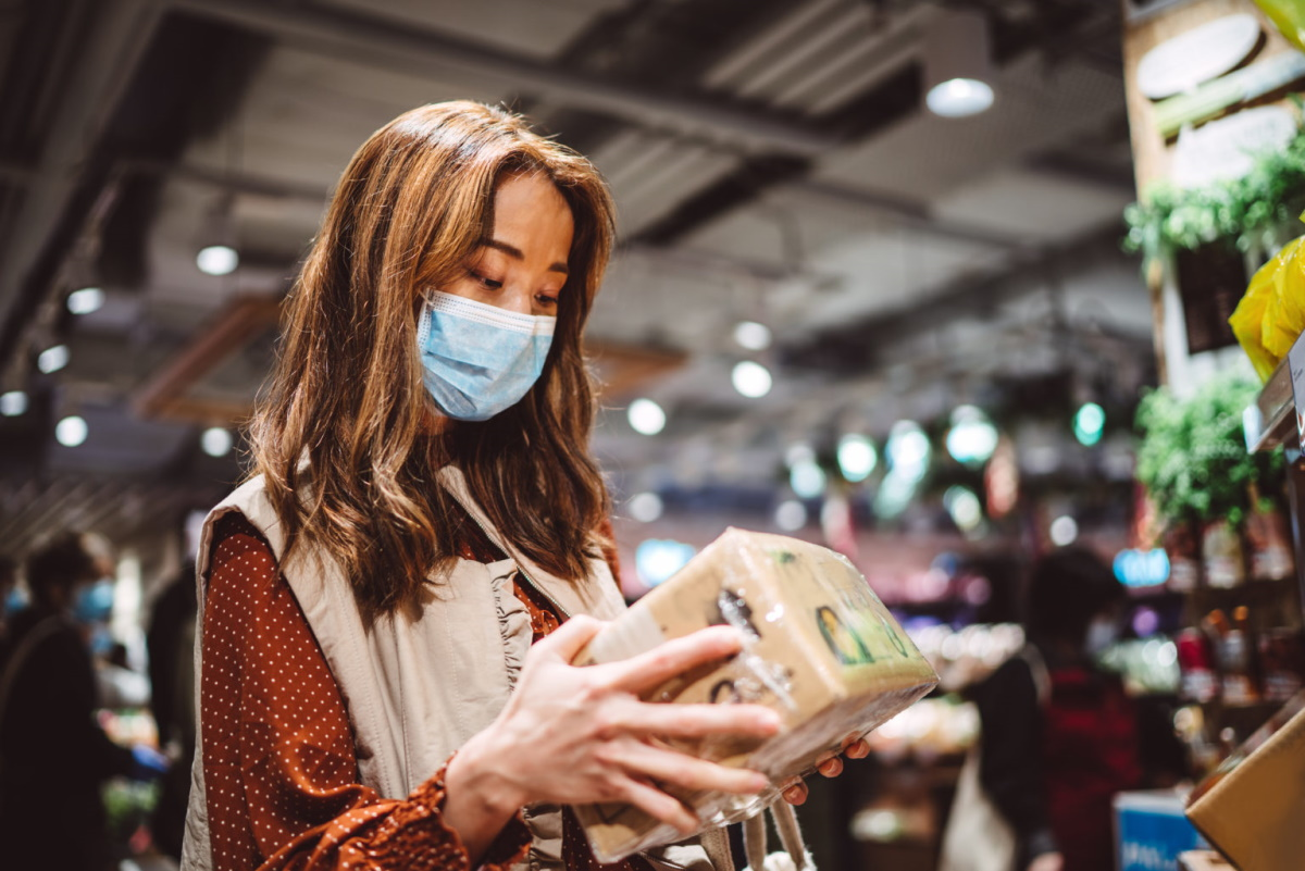 A Texas A&M professor says wearing a face masks while in public is critical to protect yourself from infected airborne particles. Photo by Getty Images