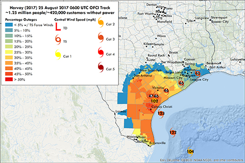 Harvey Could Knock-Out Power for 1.25 million Texans, Texas A&M Expert Says