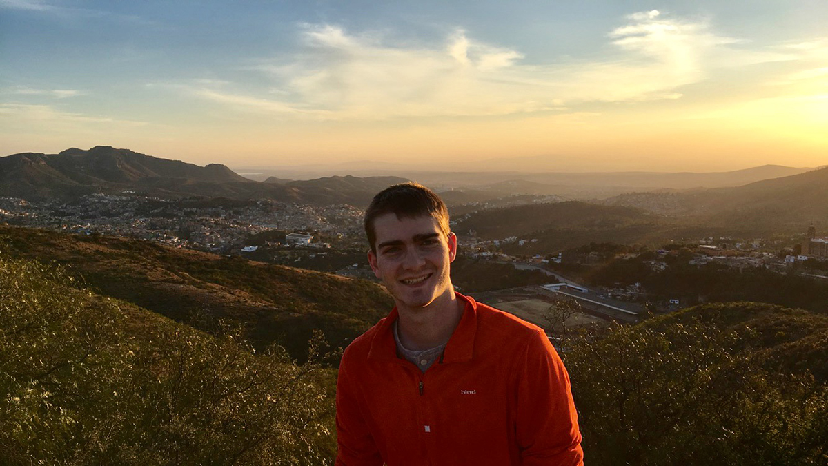 Brian Lynch '19 at sunset, overlooking Guanajuato. (All photos courtesy of Brian Lynch.)