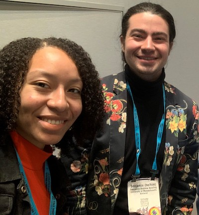 Dr. Bryant with Dr. Keisling at AGU 2019 in San Francisco, where they led the first iteration of the Next Generation of Geoscience Leaders. (Photo courtesy of Dr. Bryant.)