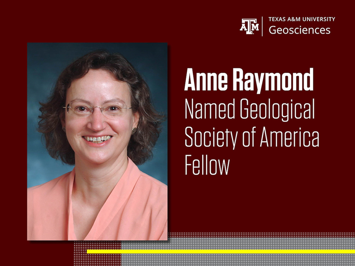 Anne Raymond named Geological Society of America Fellow.