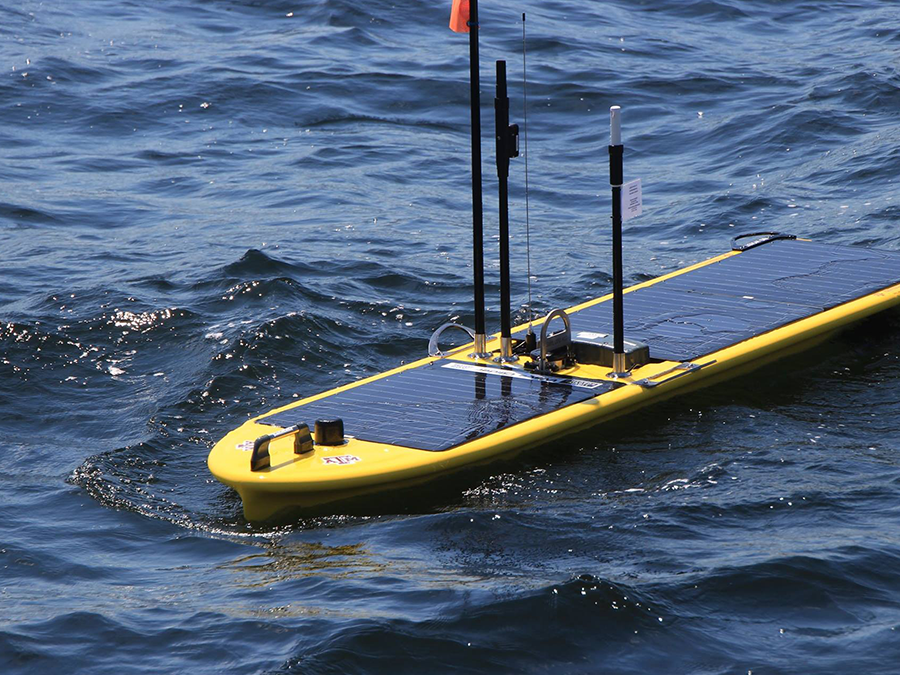 As Harvey's huge rains flow towards fragile coral reefs, this surfing robot is tracking water data