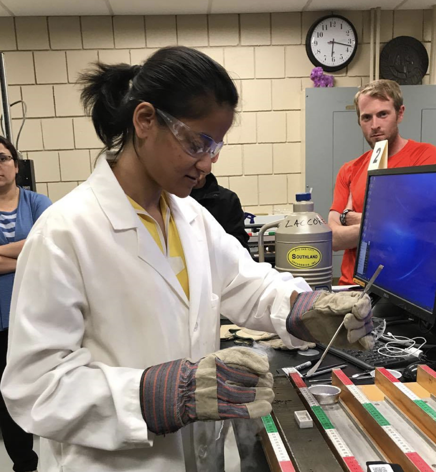 Divya Saxena trains at NSF's National Lacustrine Core Facility in UMN