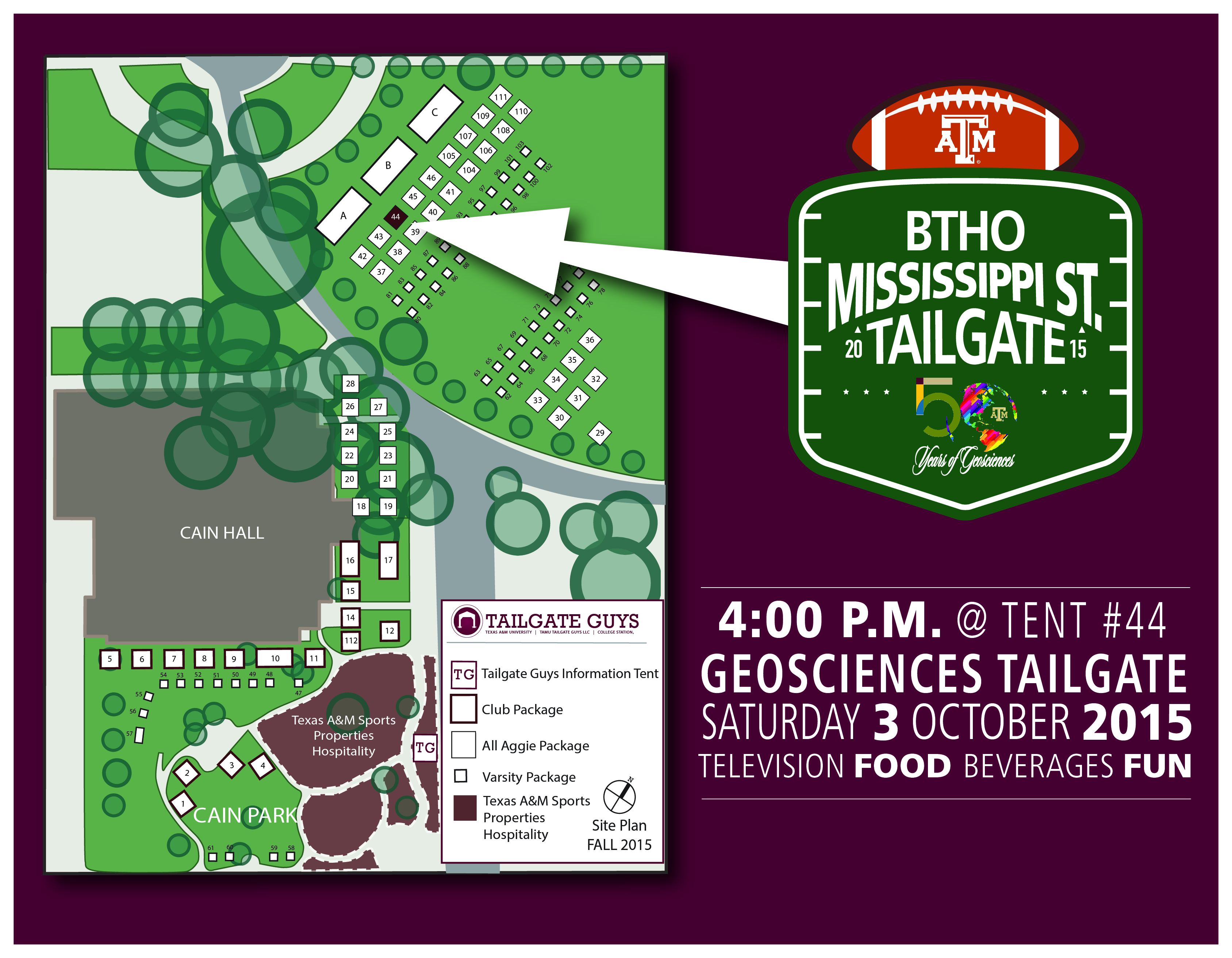 Tailgate Information and Map