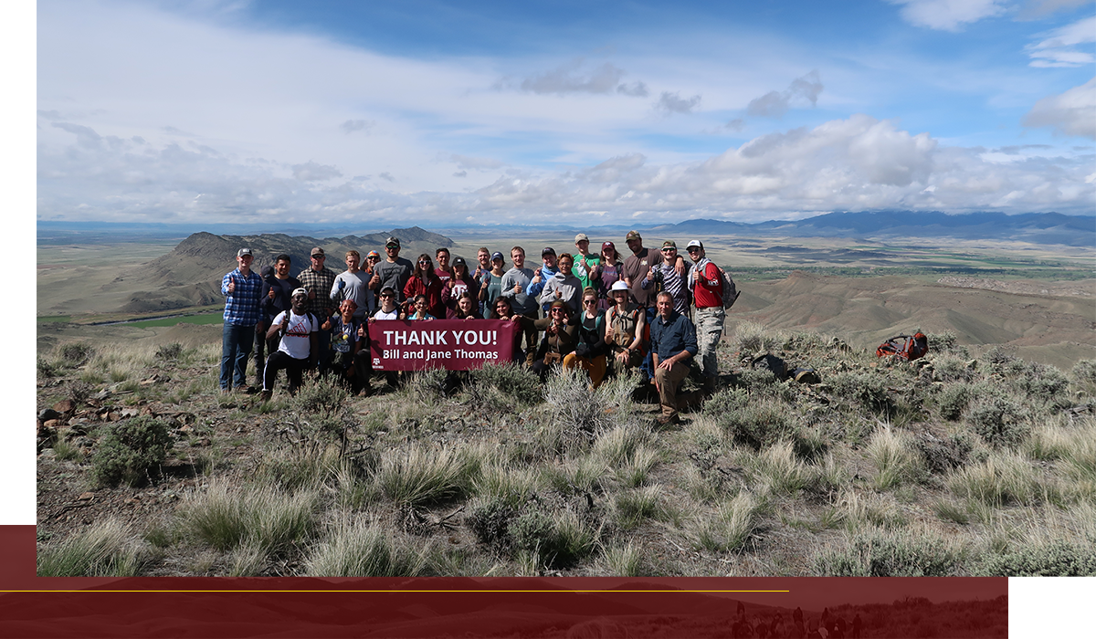 Texas A&M students at Field Camp in Montana in May 2019.