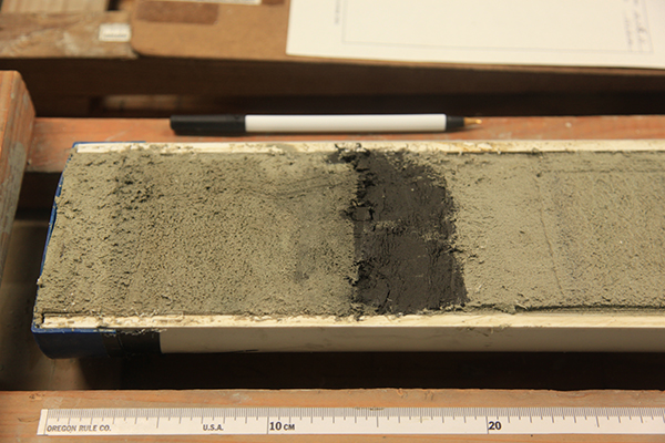 Deep ocean floor sediment cores hold chemical clues to Earth's past.