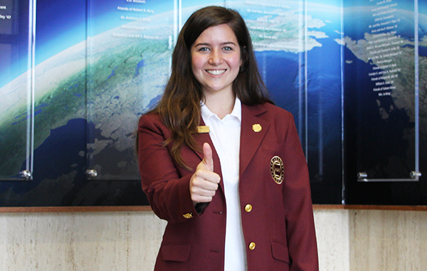 Geosciences student selected as Maroon Coat