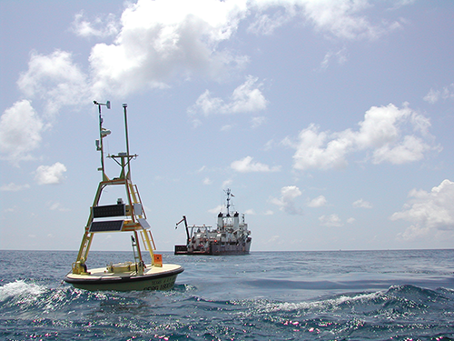 Texas' eyes and ears in the Gulf of Mexico: state-funded buoy system streamed real-time Harvey data to shore