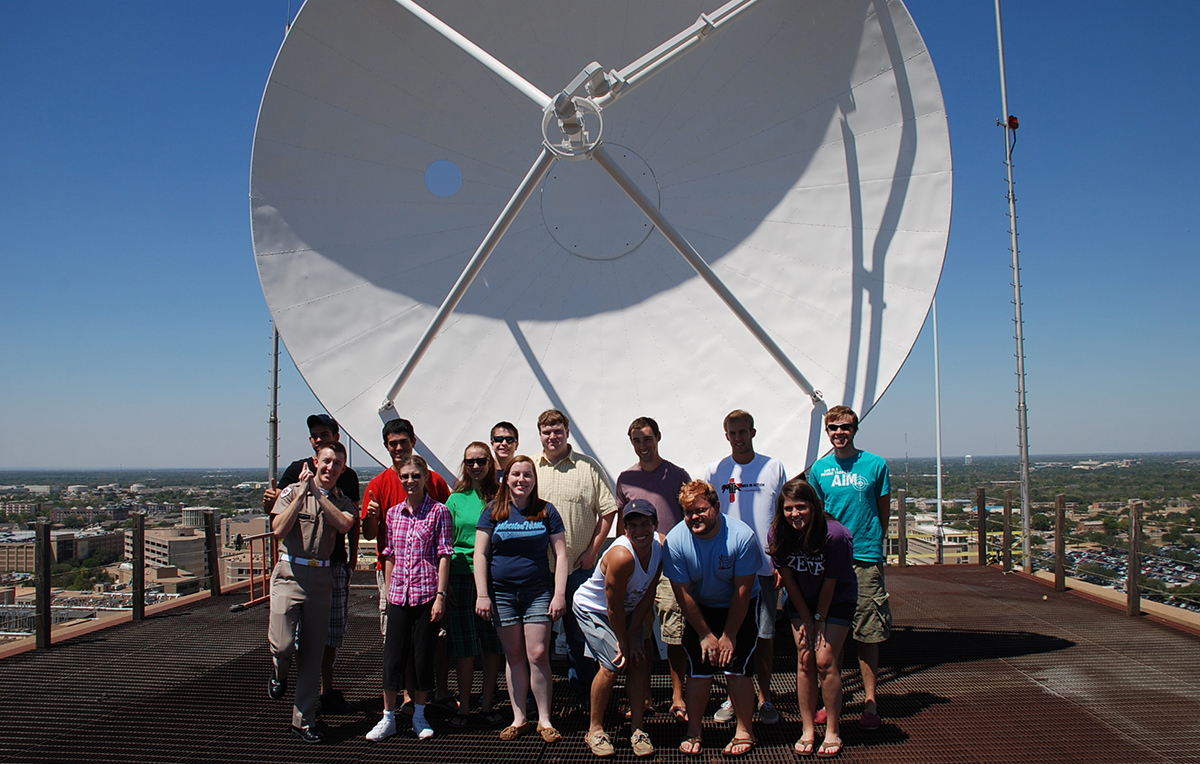The Aggie Doppler Radar (ADRAD) is located on the roof of the David G. Eller Oceanography & Meteorology Building, or O&M Building.