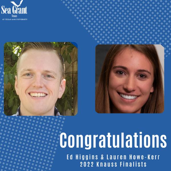 Lauren Howe-Kerr and Ed Higgins selected as 2022 Finalists for the John A. Knauss Marine Policy Fellowship Program thumbnail